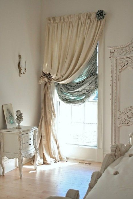 make boring curtains look interesting