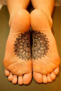 feet tattoo design