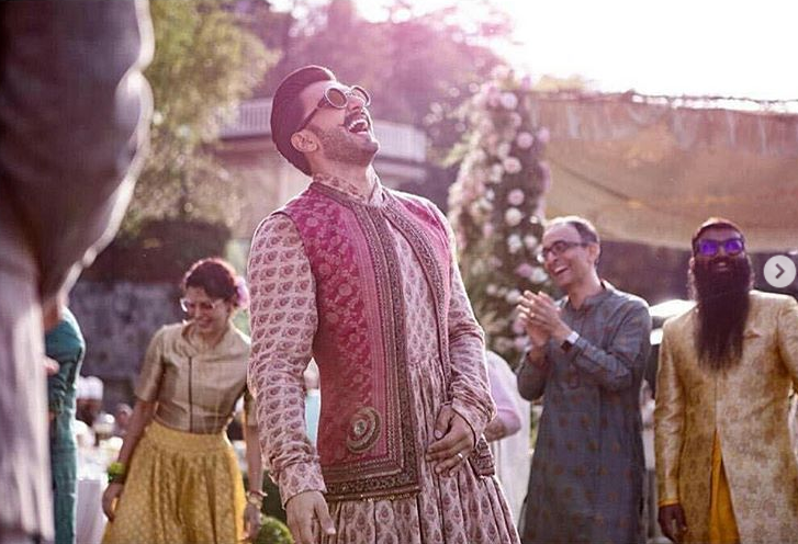 Ranveer's wedding look